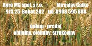Kliknite na AGRO MG spol. s r. o.